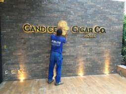 Instalação de luminarias – Loja Candice Vogue Square – Construtora Calçada