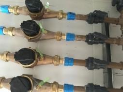 Barrilete para instalação de hidrometros individuais - Construtora LDM2 - Residenciais B. Spinoza
